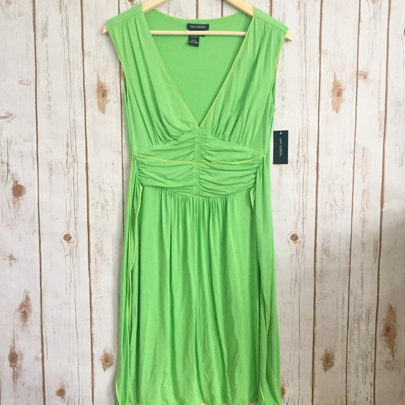 Max Edition Dresses & Skirts - NWT Max Edition Kelly green v neck dress